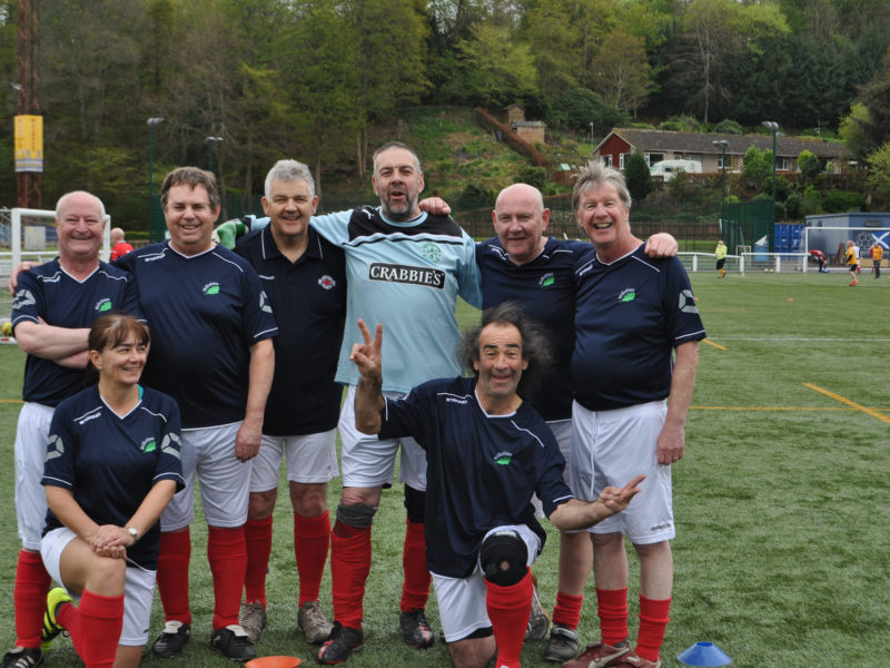 LMYFC Walking Football Team Galashields May 2017