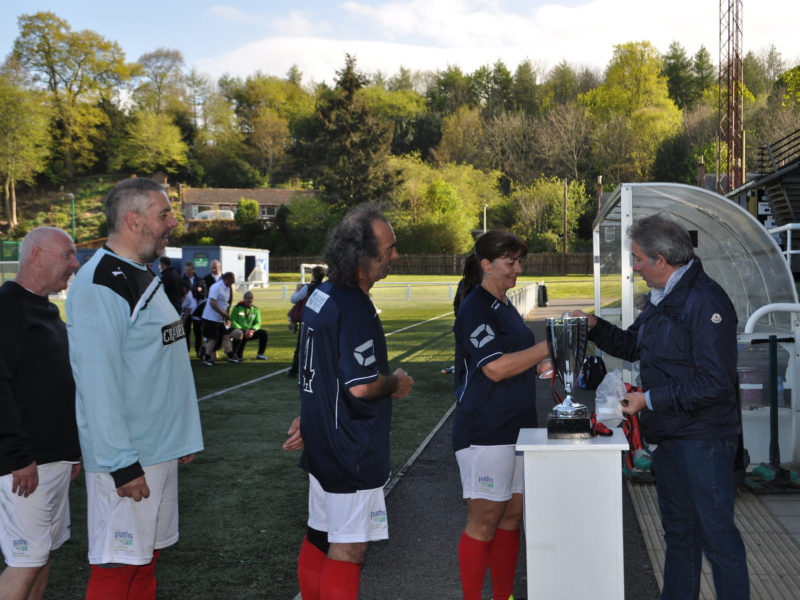 LMYFC accepting the trophy