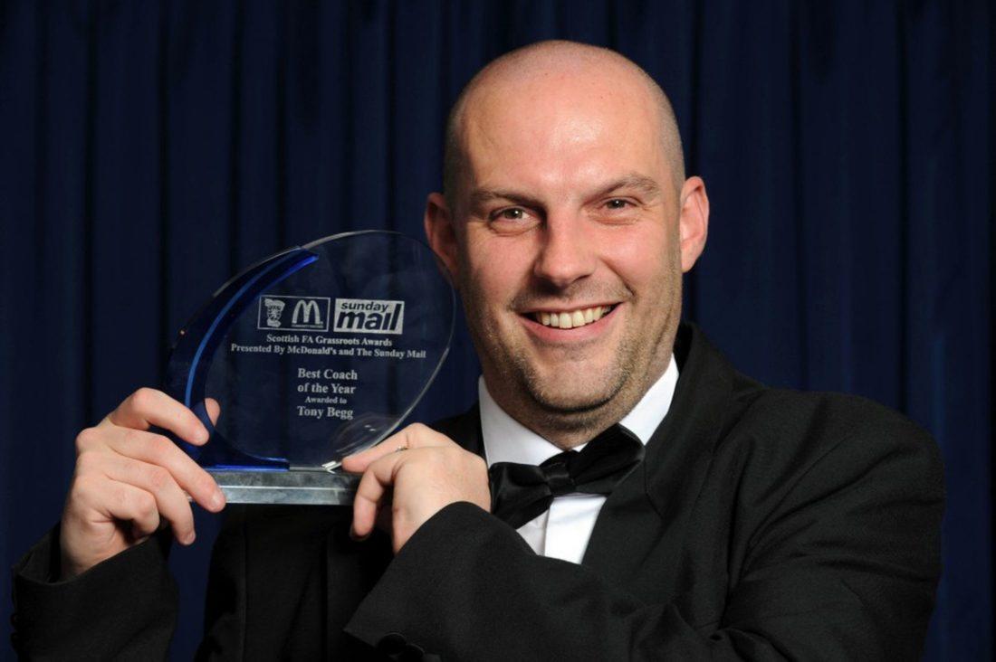 SFA Grassroots Awards Tony Begg Coach of the Year 2012