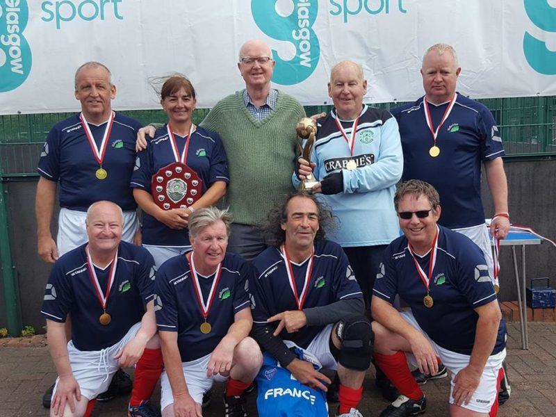 LMYFC Walking Football Team Scottish Walking Cup Winners 2017