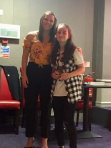 U15 Players Player of the year Zoe Sinclair with Lisa Robertson (Durham Ladies)