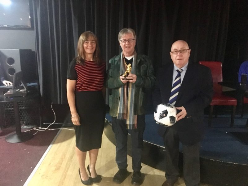 Walking Football POY2018 Mike Addison Presentation with Vivian Wallace & Ian Richardson